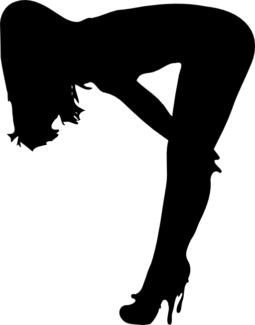 512x654 Female Silhouette Clip Art