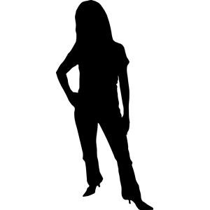 300x300 Female Silhouette Clip Art Many Interesting Cliparts
