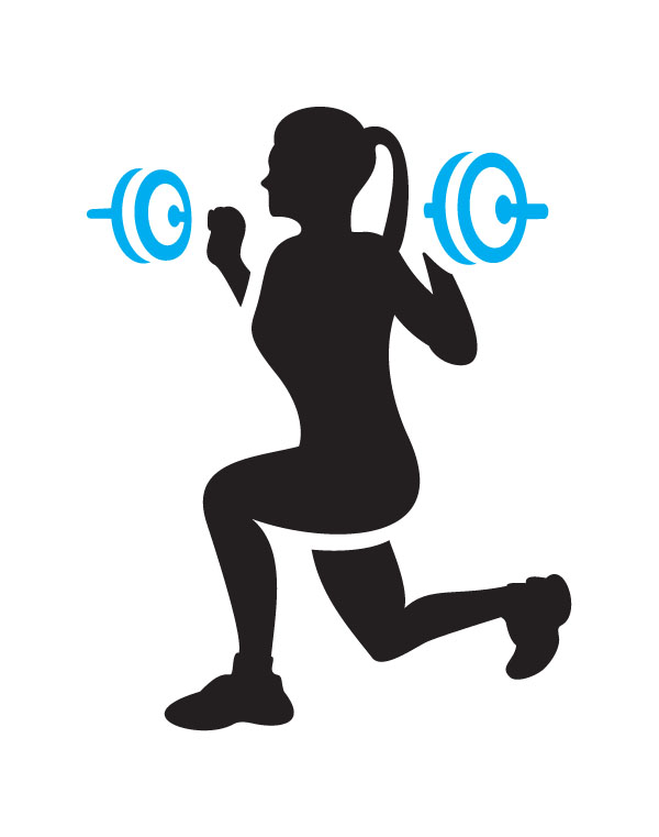 600x761 Female Silhouette Weightlifter Clipart