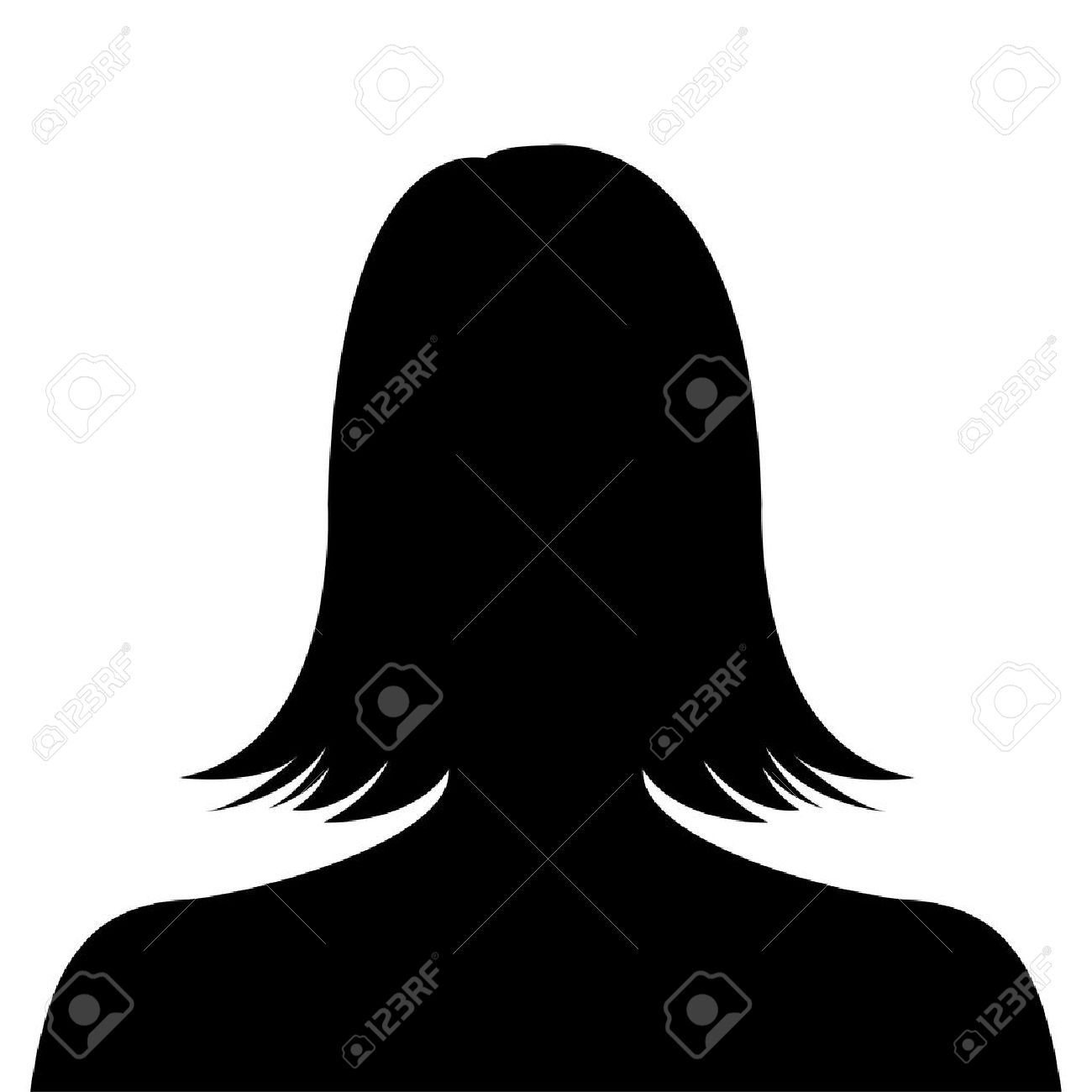 1300x1300 Female Silhouette Avatar Profile Picture On White Background