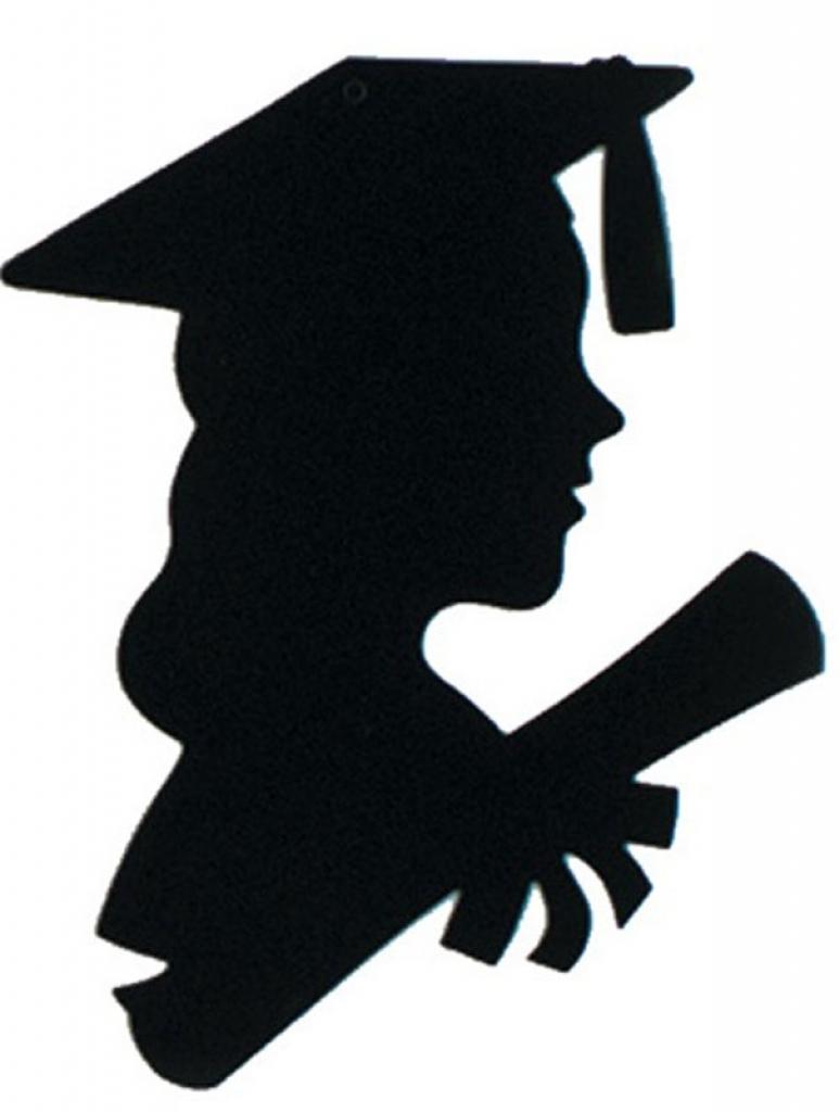 774x1024 Graduation Female Silhouette Graduate Clipart Clipart Image 1207