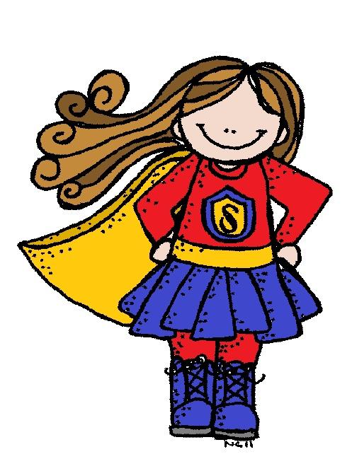497x673 Female Superhero Clipart