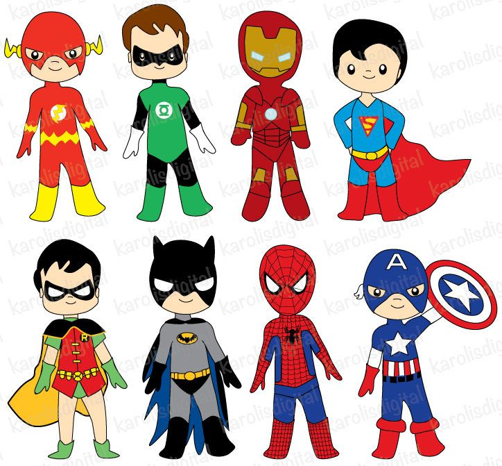 724x671 Superheroes