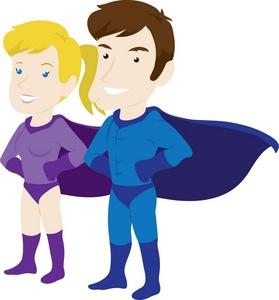 279x300 Superheroes Clipart Image