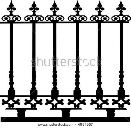 450x440 Metal Fence Clipart