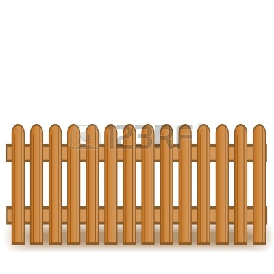 400x400 Ranch Clipart Picket Fence