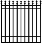 165x170 Clipart Of , Arrows, Fence, Gate, Grill, Iron, Ironwork, Scroll