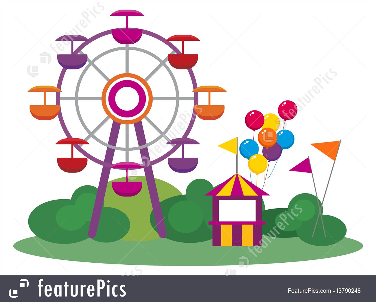 Ferris Wheel Clipart