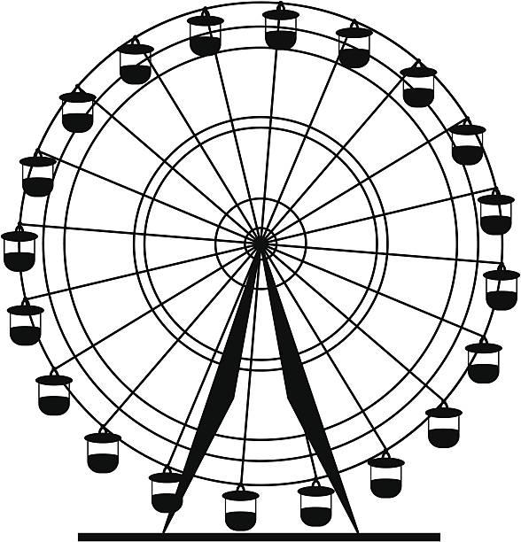 588x612 Drawn Ferris Wheel Big Wheel