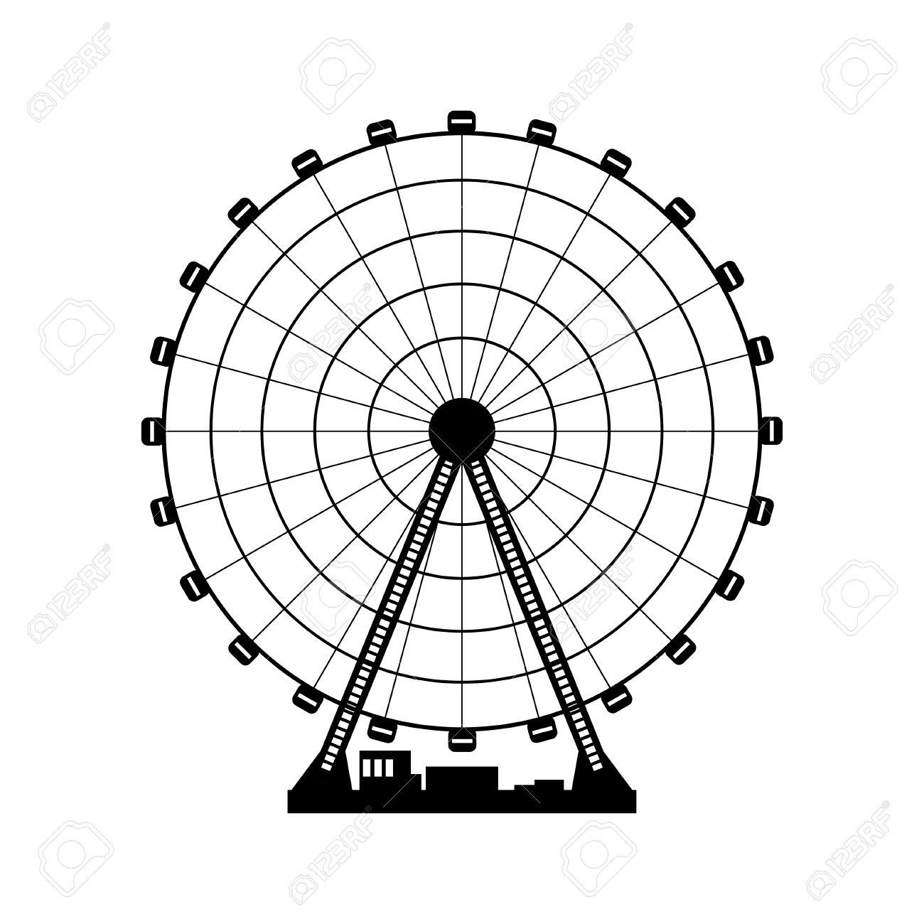 1300x1300 Ferris Wheel Clipart Funfair