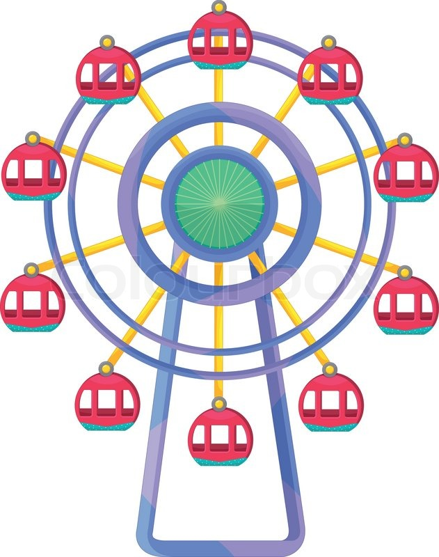 631x800 Ferris Wheel Illustration Stock Vector Colourbox
