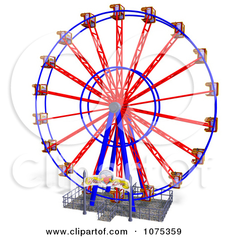 450x470 Carnival clip art 3d Wheel Of Fun Ferris Wheel Carnival Ride 5