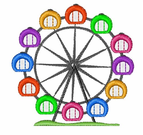 500x473 Ferris Wheel Embroidery Designs, Machine Embroidery Designs
