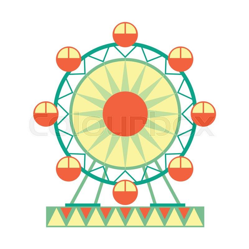 800x800 Big Ferris Wheel Ride, Part Amusement Park And Fair Series