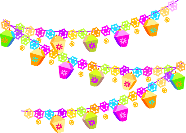 600x431 Festival Christmas Decorations Clip Art