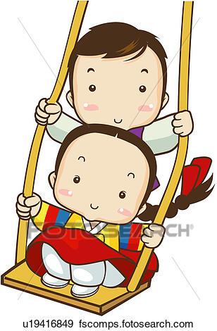 308x470 Clip Art Of Festival, Korean Dress, Beginning, Holiday, Child