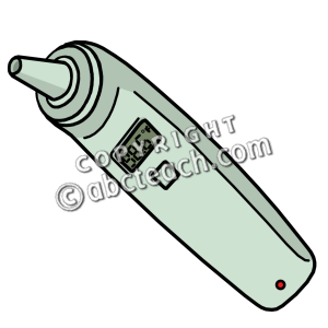 300x300 Digital Thermometer Clipart