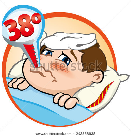 450x470 Sick Clipart Thermometer Fever