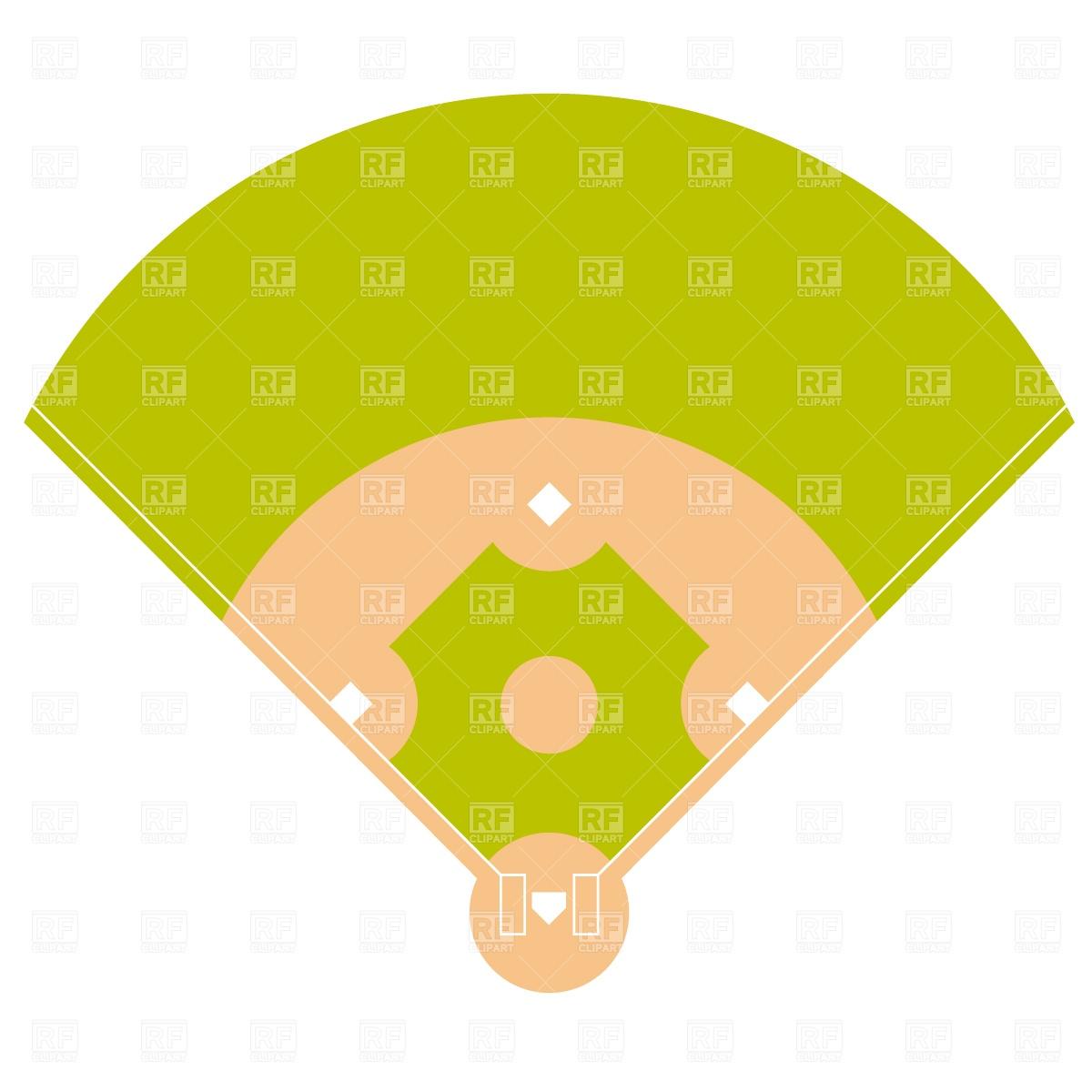 1200x1200 Baseball Field Plan Royalty Free Vector Clip Art Image
