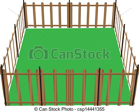 450x362 Field With Fence Clip Art Cliparts