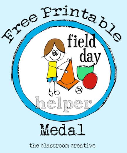 432x522 Free Printable Field Day Helper Medal