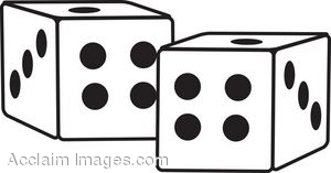 300x157 Dice Field Trip Clipart Black And White Free Clipart Image