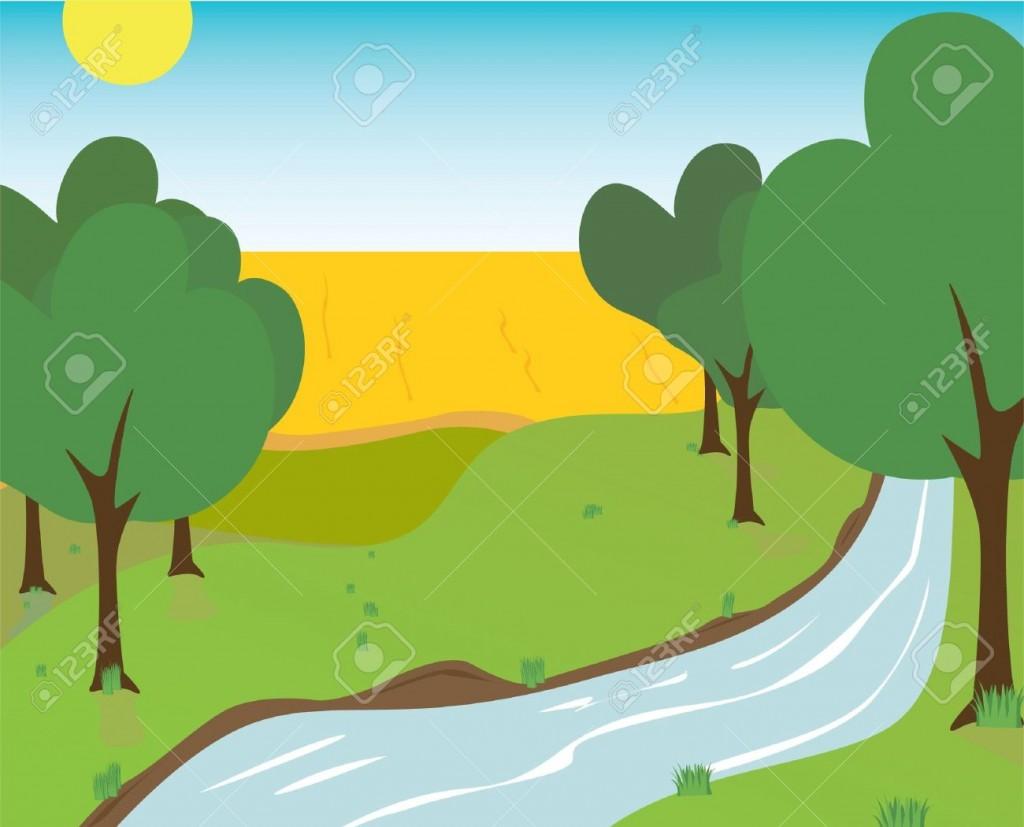 1024x827 Field Clipart River Landscape