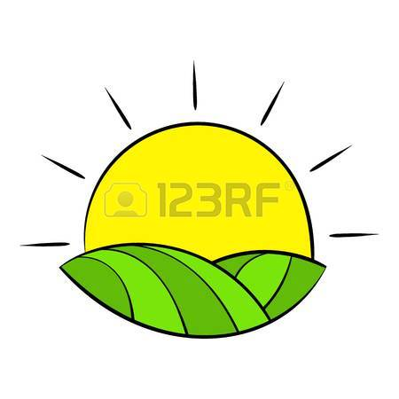 450x450 Sun Over Fields Of France Icon Cartoon Royalty Free Cliparts