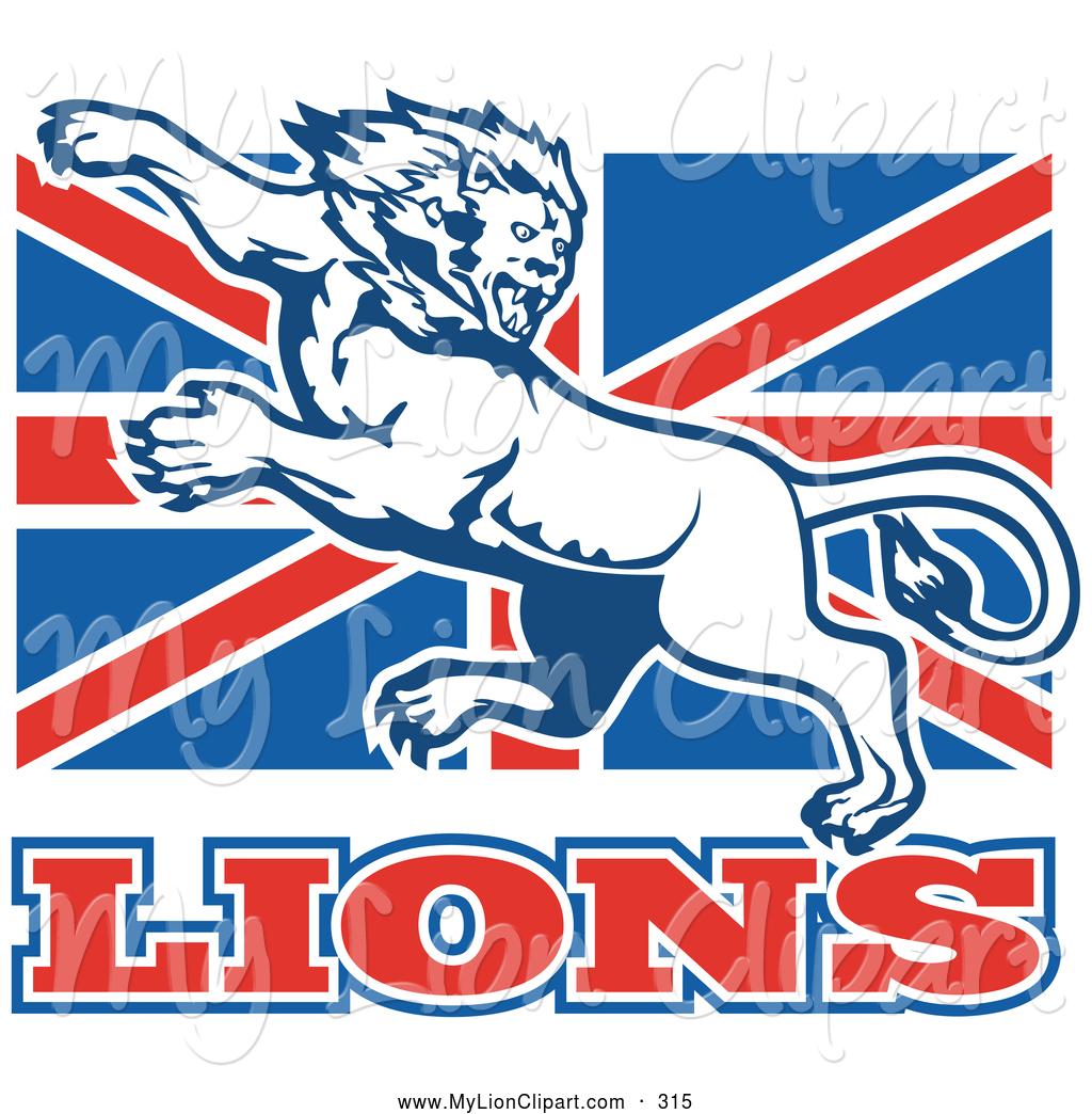 1024x1044 Clipart Of A Mean Fierce Lion On British Flag By Patrimonio