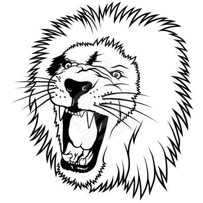 400x400 Fangs Clipart Fierce Lion