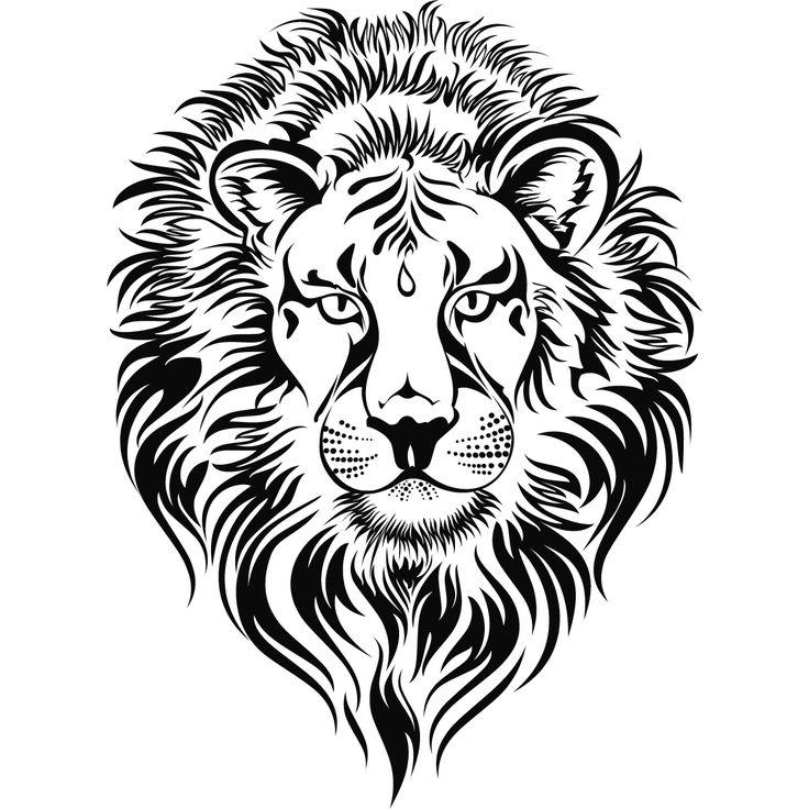 736x736 Fierce Lion Clipart Lions Head Wall Art Sticker 0 0