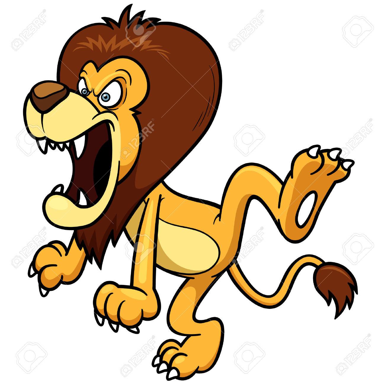 1300x1300 Lion Clipart Angry Lion
