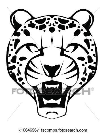 374x470 Clip Art Of Cheetah Face K10646367