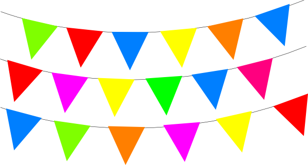 600x321 Fiesta Bunting Border Cliparts Free Download Clip Art