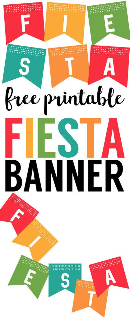 418x1024 Fiesta Banner Printable {Free Decor Cinco De Mayo Decorations