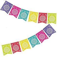 236x236 Flower Cutout Banner ( 9 12 X 12 12 Flags On A 100 Ft. String