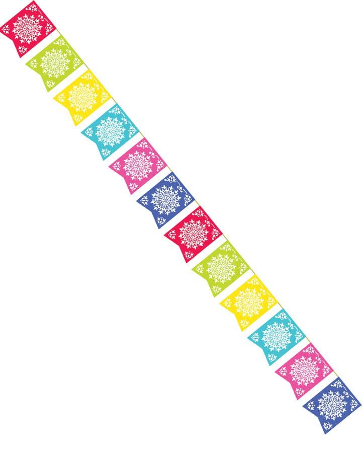 720x900 Mexican Fiesta Sun Flag Banner