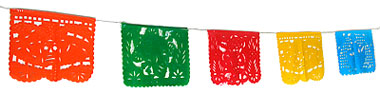 380x94 Mexican Papel Picado Banners