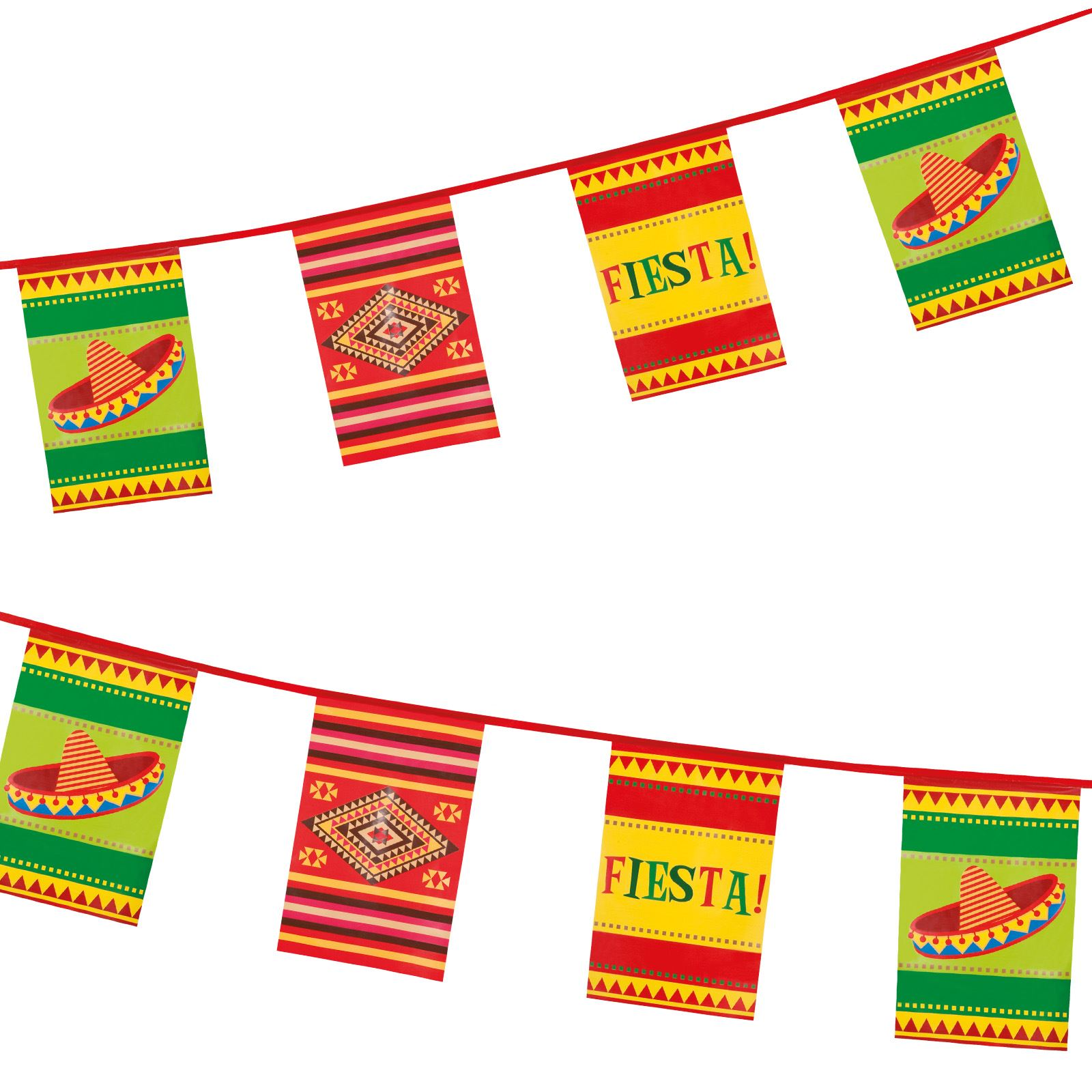1600x1600 Wild West Mexican Fiesta Party Pennant Flag Hanging Banner Bunting