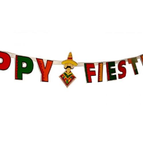 500x500 X 8.5' Happy Fiesta Banner