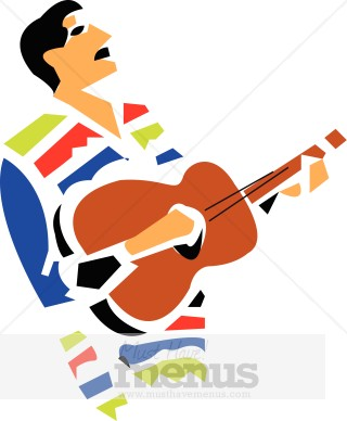 320x388 Mexican Singer Clipart Holiday Clipart Archive