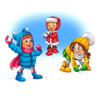 400x400 Snowball Fight Clip Art Disney Winter Fun Collection Digi Stamp