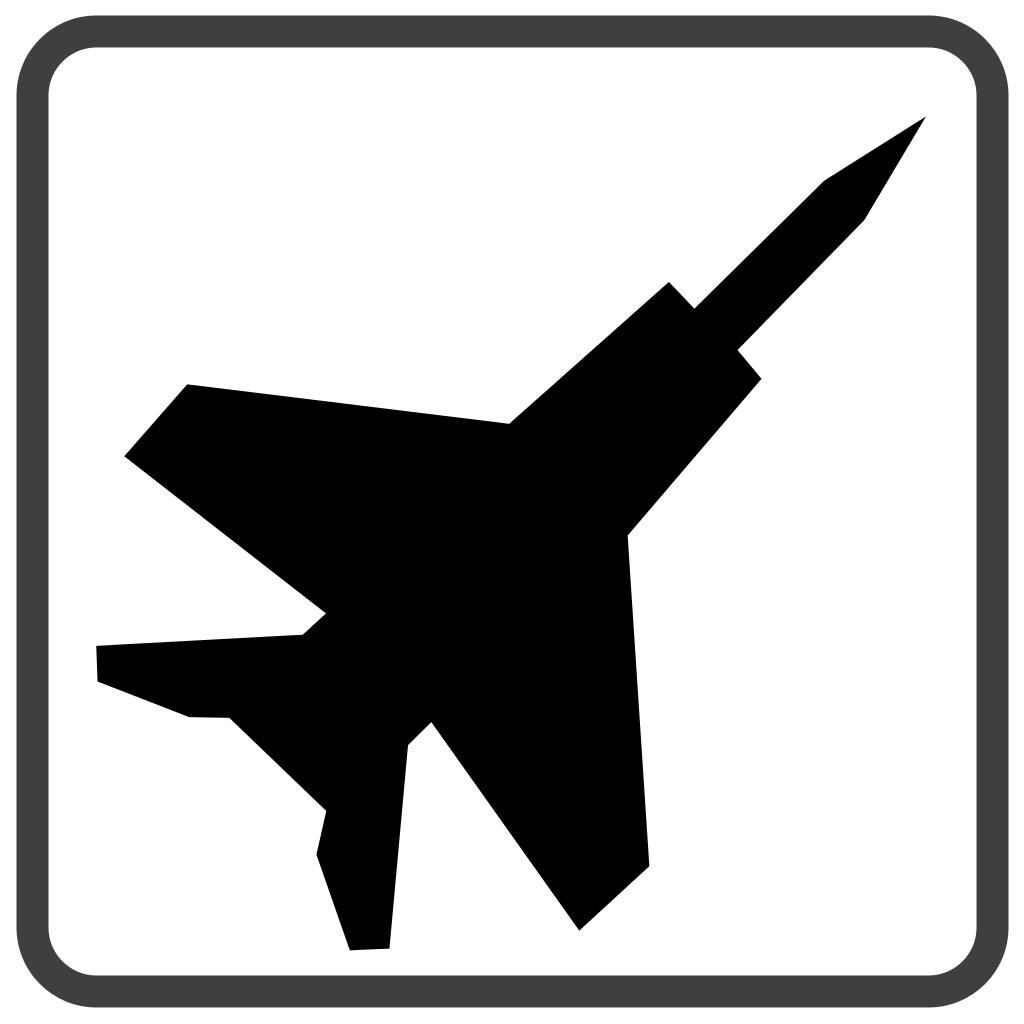 1024x1024 File Fighter Jet Black Icon Clipart