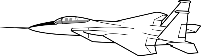 700x196 Jet Fighter Clipart Black And White