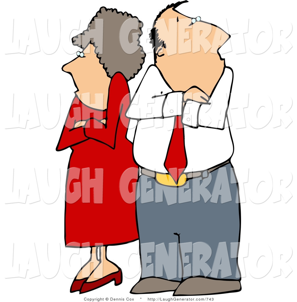 1024x1044 Humorous Clip Art Of A Fighting Couple (Husband And Wife) Standing