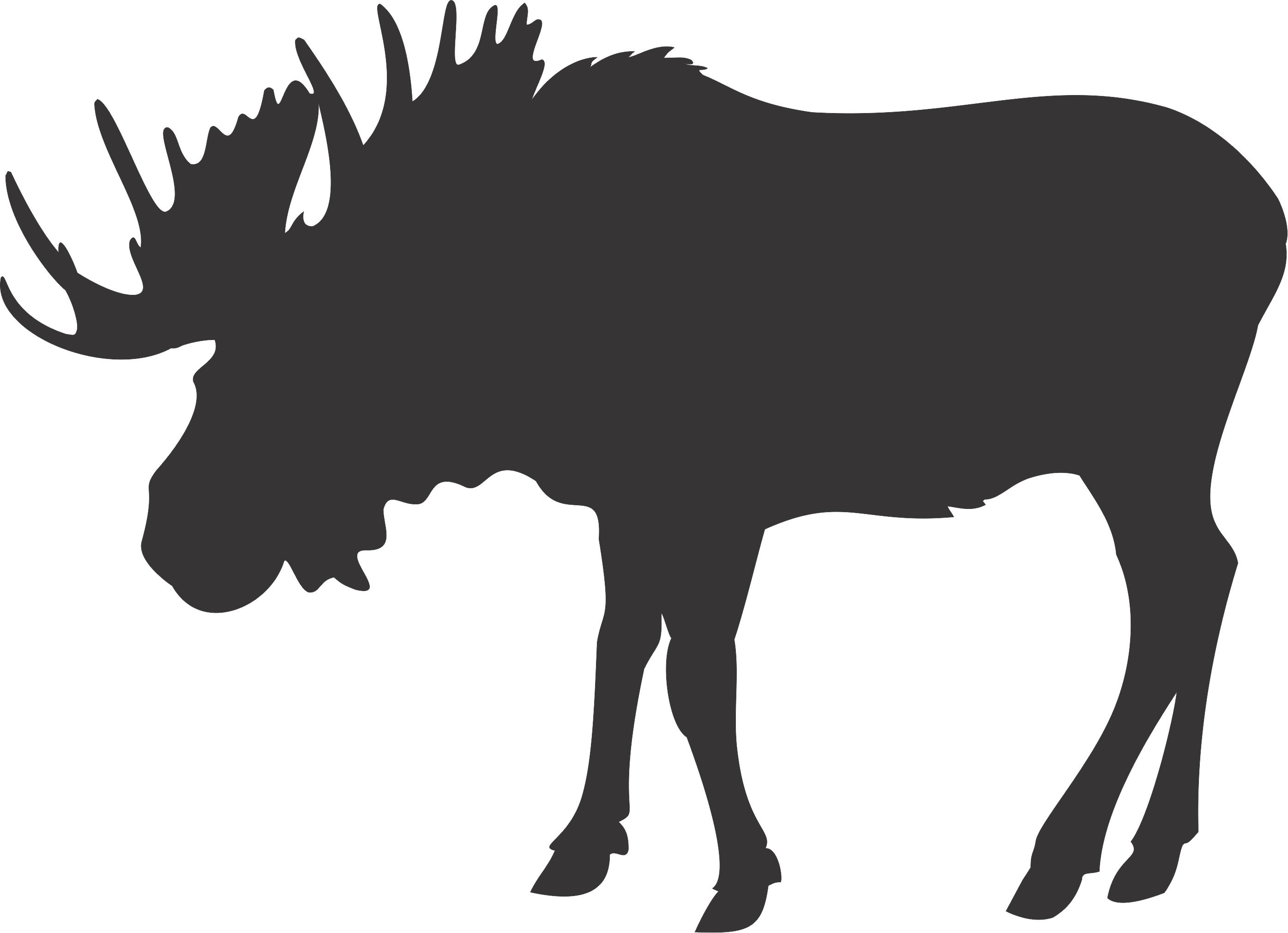2790x2022 Moose Silhouette Clip Art Clipart