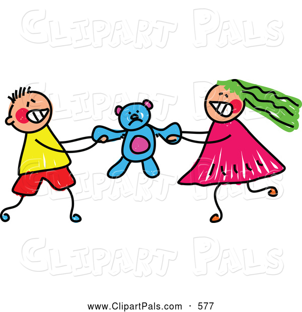 600x620 Pal Clipart Of A Pair Of Kids