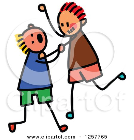 450x470 Two Little Girls Fighting Clip Art Cliparts