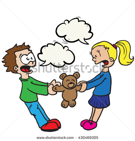 450x470 Girl And Boy Fighting Clipart
