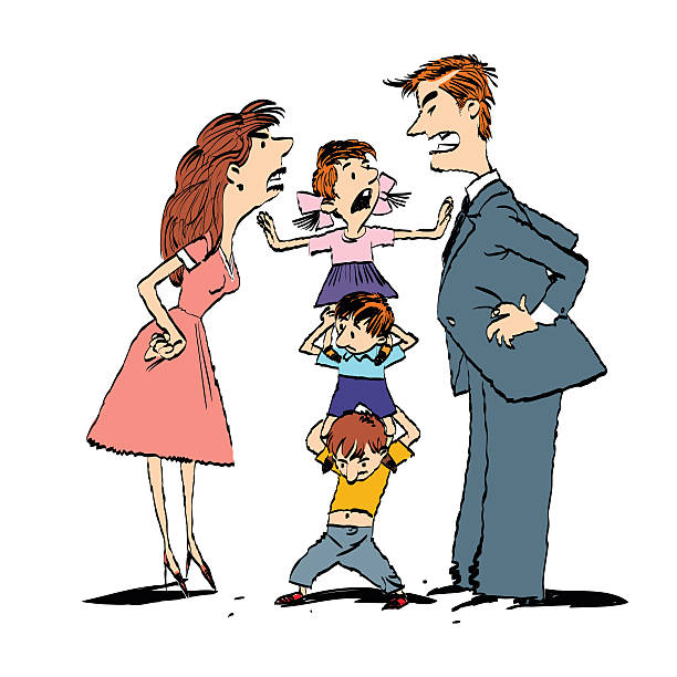 612x612 Fighting Family Clipart